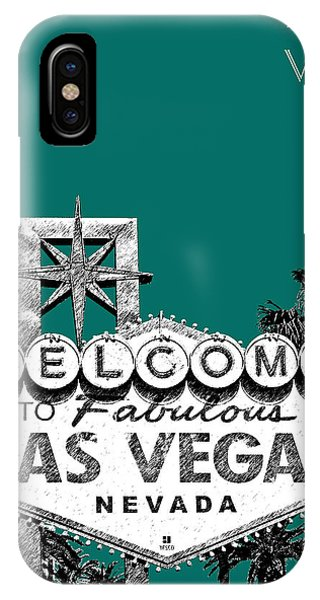 Las Vegas Welcome To Las Vegas - Sea Green IPhone Case
