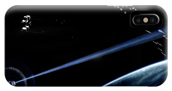 Department Of Defense iPhone Case - Laser And Kinetic Sdi Weapons Artwork by Us Department Of Energy / Science Photo Library