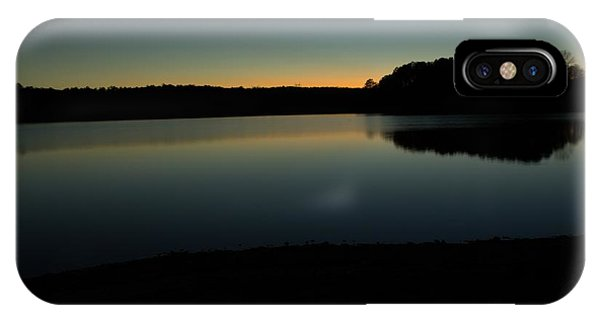 Lake Juliette iPhone Case - Last Light by Donna Brown