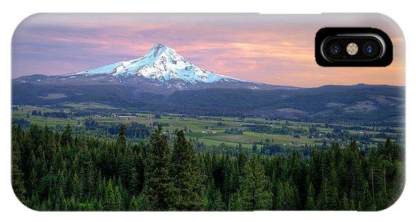 Last Light On Mt. Hood Phone Case by Joe Hudspeth
