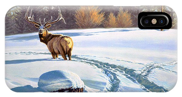 Yellowstone iPhone Case - Last Look  -elk by Paul Krapf
