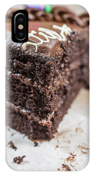 Icing iPhone Case - Last Piece Of Chocolate Cake by Edward Fielding