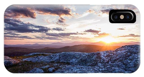 Last Rays. Sunset On Foss Mountain. IPhone Case