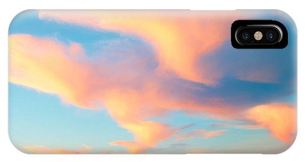 Fiery Sunset And Lenticular Cirrus Clouds - Newport Beach Backbay California IPhone Case