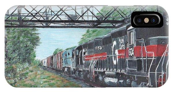 Last Train Under The Bridge IPhone Case