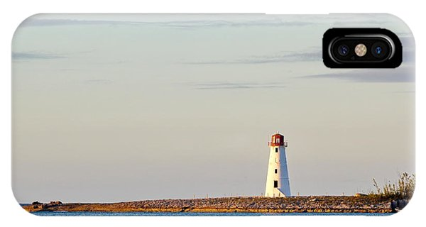 Late Afternoon At Hog Island Lighthouse On Paradise Island Baha IPhone Case