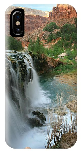 Late Afternoon At Little Navajo Falls  IPhone Case