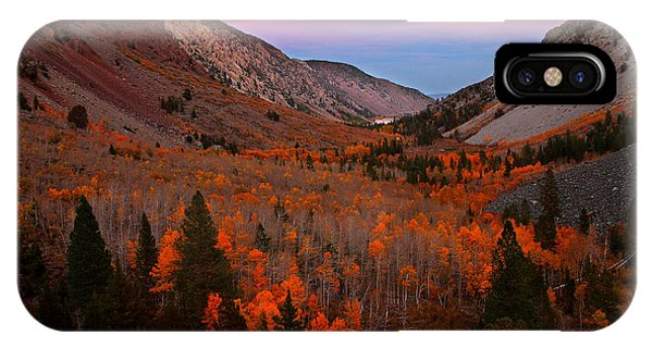 Late Autumn Sunset At Lundy Canyon In The Eastern Sierras IPhone Case