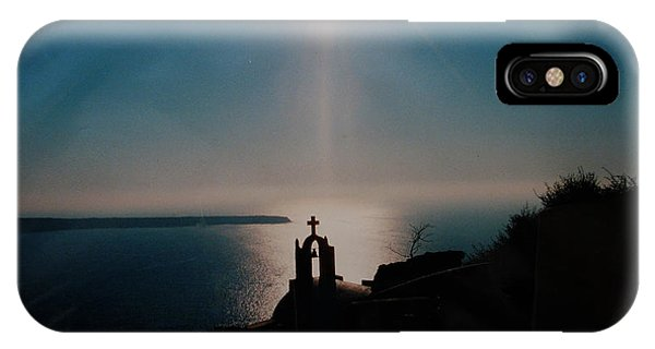 Late Evening Meditation On Santorini Island Greece IPhone Case