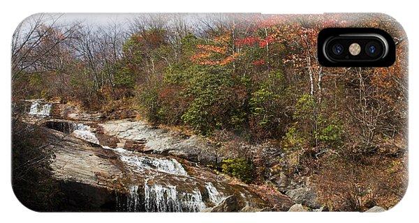 Late Fall Mountain Waterfall IPhone Case