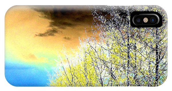 Shrub iPhone Case - Late Fall Tree Line by Will Borden