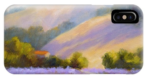 Late June Hills And Lavender IPhone Case
