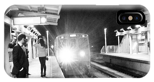 Late Night On The Red Line IPhone Case
