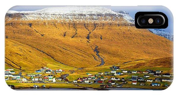 Late Spring In Faroe Islands Panorama IPhone Case