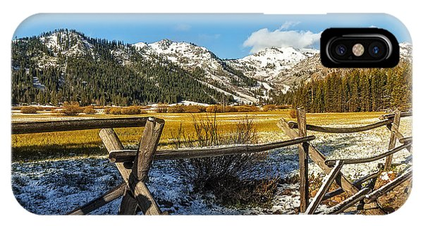Late Spring Snow At Squaw Phone Case by Nancy Marie Ricketts