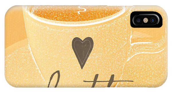Peach iPhone Case - Latte Love In Orange And White by Linda Woods