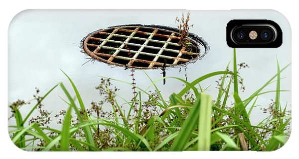 Drain iPhone Case - Lattice Drain Cover by Gustoimages/science Photo Library