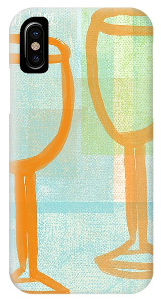 Wedding Gift iPhone Case - Laugh And Wine by Linda Woods