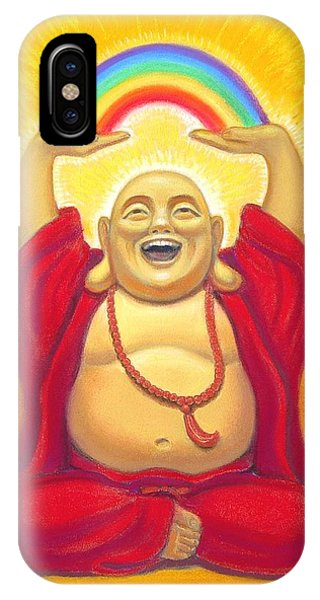 Laughing Rainbow Buddha IPhone Case