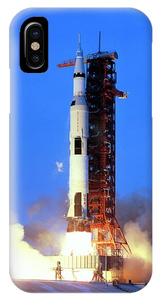 Spaceflight iPhone Case - Launch Of Apollo 13 Atop A Saturn V Rocket by Nasa/science Photo Library