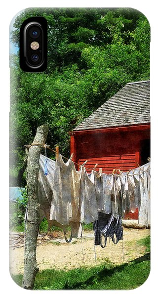 Laundry Hanging On Line IPhone Case