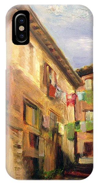 Laundry In Spoleto IPhone Case
