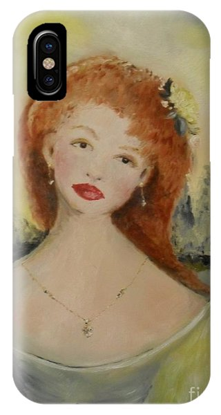 IPhone Case featuring the painting Laurel by Laurie Lundquist
