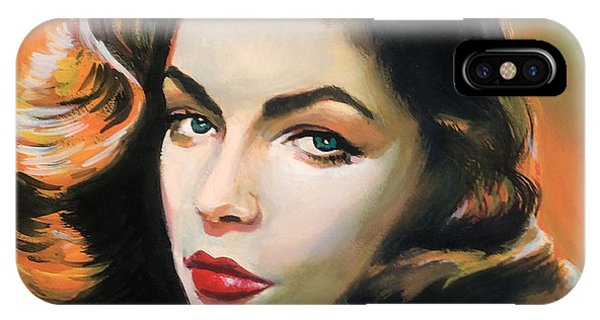 Lauren Bacall Phone Case by Robert Korhonen
