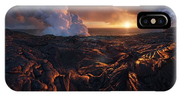 Hawaii iPhone Case - Lava Fields by Inigo Cia