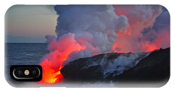Lava Flow At Sunset In Kalapana IPhone Case