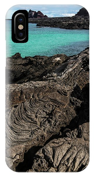 Basalt iPhone Case - Lava Formations Sullivan Bay Santiago by Pete Oxford