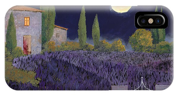 IPhone Case featuring the painting Lavanda Di Notte by Guido Borelli