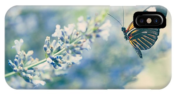 Pollination iPhone Case - Lavender And The Butterfly by Juli Scalzi