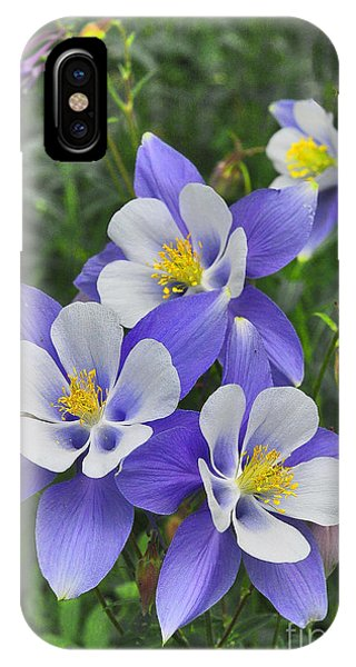 IPhone Case featuring the digital art Lavender And White Star Flowers by Mae Wertz