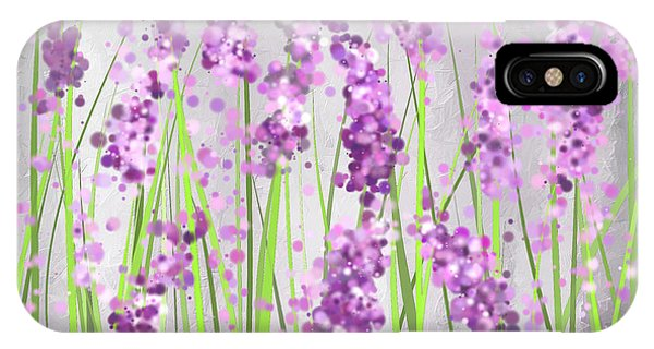 Lavender Blossoms - Lavender Field Painting IPhone Case