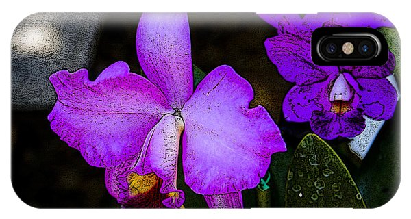 Lavender Catleya Orchid IPhone Case