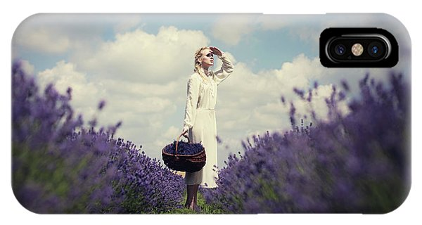 Lavender iPhone Case - Lavender Field by Dorota G?recka