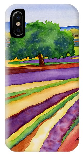 Lavender iPhone Case - Lavender Field by Hailey E Herrera