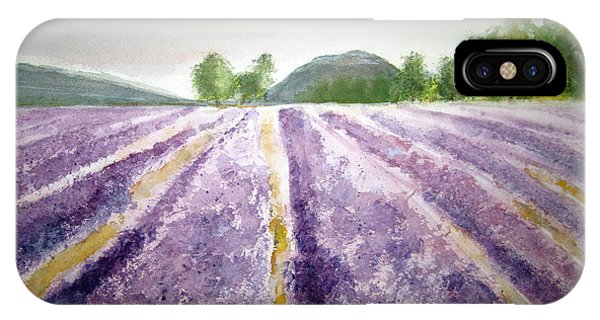 Lavender Fields Tasmania IPhone Case