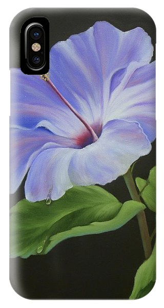 Lavender Hibiscus Phone Case by Francine Henderson