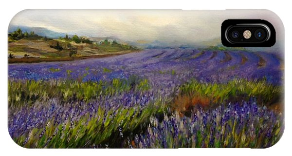 Lavender In Oil IPhone Case