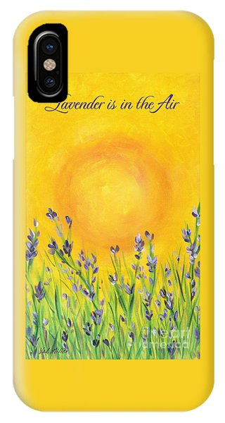 Lavender In The Air IPhone Case