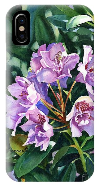 Violet iPhone Case - Lavender Rhododendron In Sunlight by Sharon Freeman