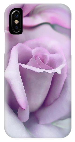 Lavender Rose Flower Portrait IPhone Case