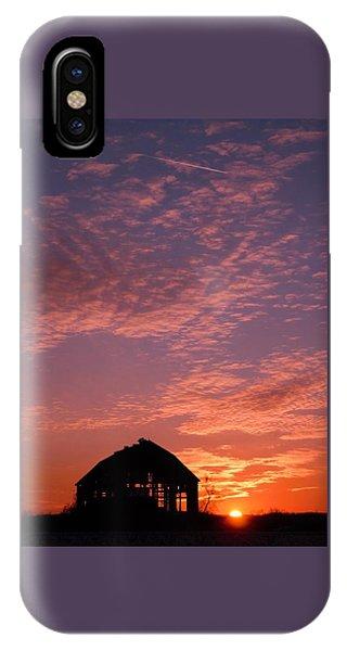 Lavender Sunset Silhouette IPhone Case