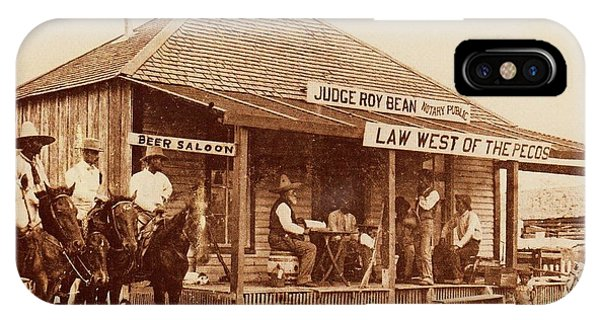 Law West Of The Pecos IPhone Case