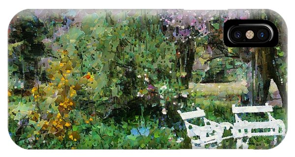 Lawn Chairs In The Garden IPhone Case