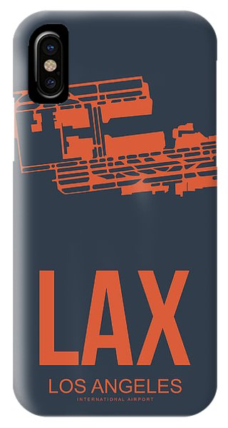 City iPhone Case - Lax Airport Poster 3 by Naxart Studio