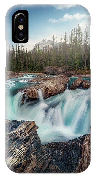 Fir Trees iPhone Case - Layers by Juan Pablo De