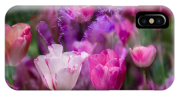 Layers Of Tulips IPhone Case